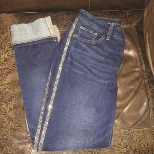 Chico's Jeans Girlfriend ankle with beads